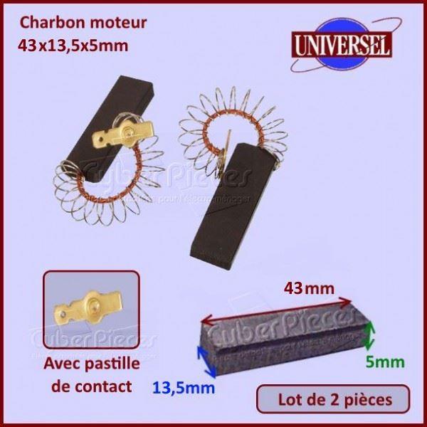 Charbon moteur 43x13,5x5mm Bosch 00616505