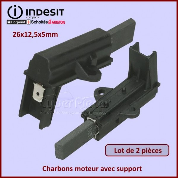 Charbon moteur avec support 26x12,5x5mm / L1-11