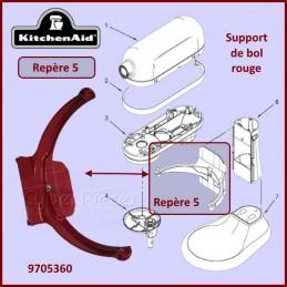 Support de bol rouge Kitchenaid 9705360 CYB-267441