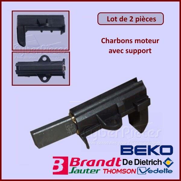 Charbon moteur avec support  25x12,5x5mm