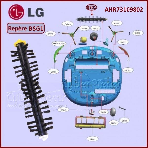 Brosse rotative aspirateur robot LG AHR73109802 Pièces