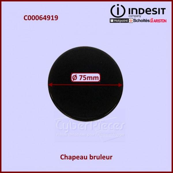 Chapeau brûleur semi rapide Indesit C00064919