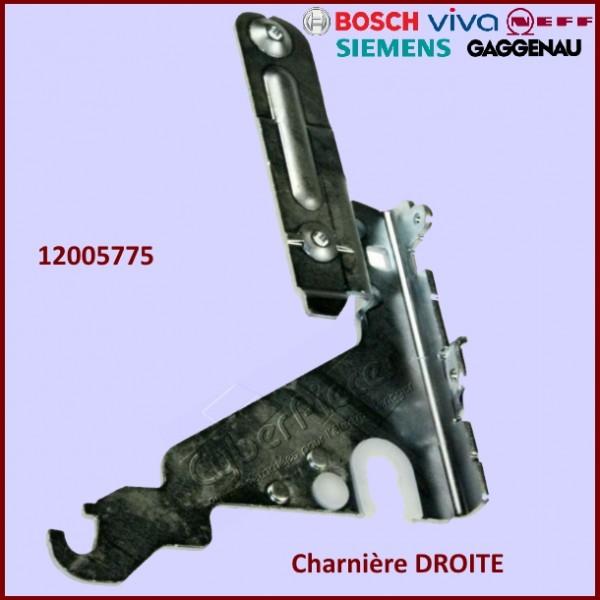 Charnière DROITE pour Bosch Siemens 12005775