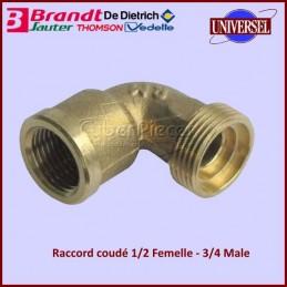 Raccord coudé 1/2 Femelle - 3/4 Male Brandt C610000K4 CYB-303316