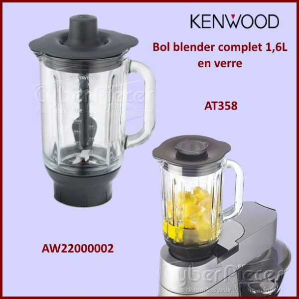 bol blender en verre at358 kenwood aw22000002 pour robot menager cocotte autocuiseurs petit. Black Bedroom Furniture Sets. Home Design Ideas