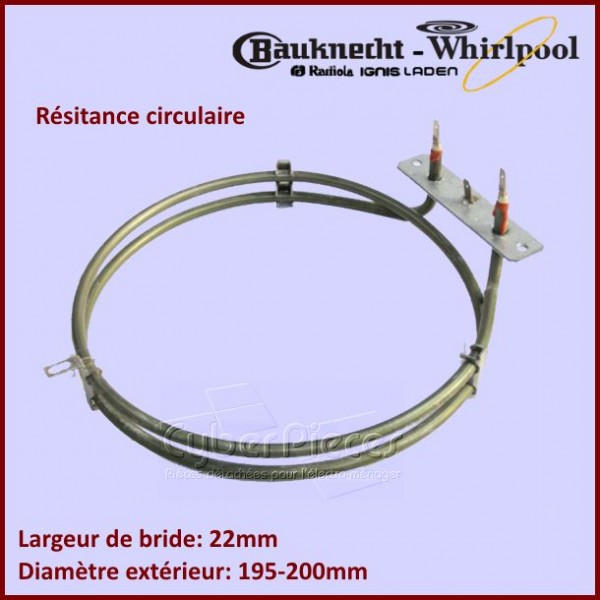 Résistance circulaire 2050W Whirlpool 481925928718