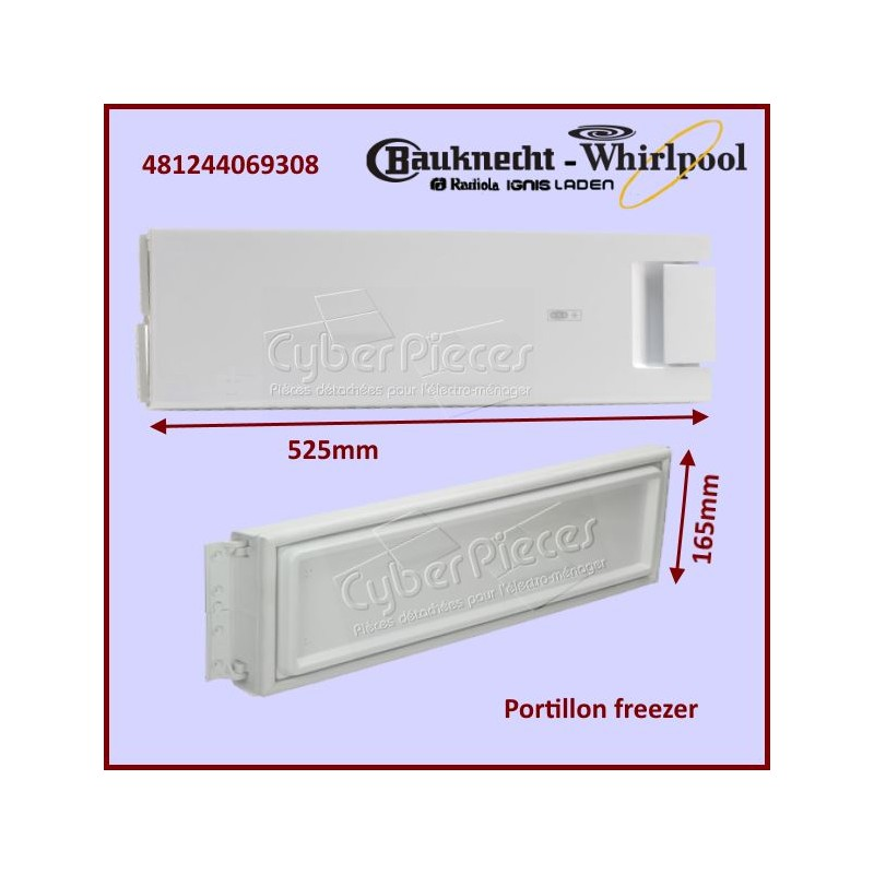 Portillon Freezer Whirlpool 481244069308