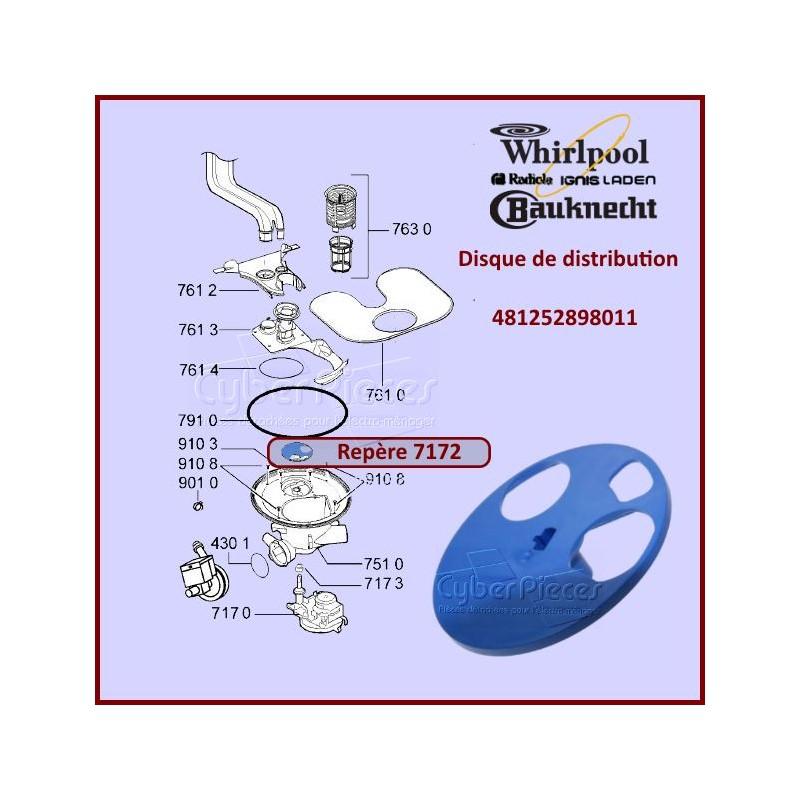 Disque De Distribution Whirlpool 481252898011