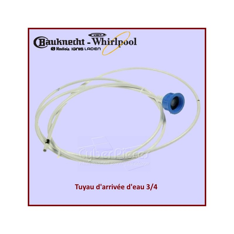 Tuyau d'arrivée d'eau 3/4 Whirlpool  481010588539