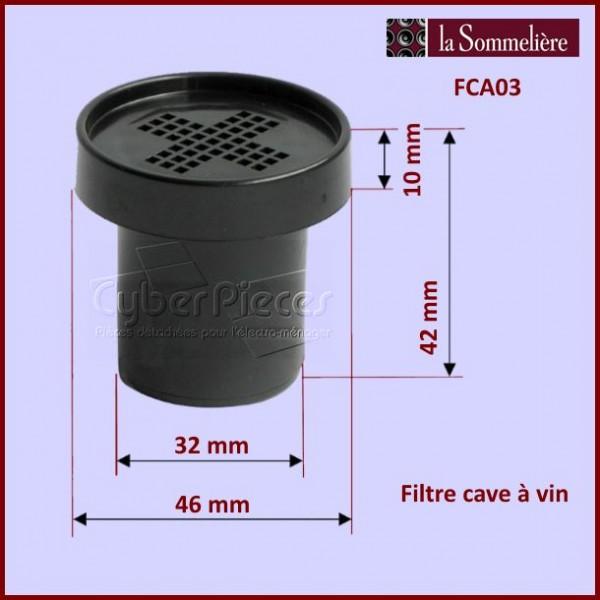 filtre cave vin la sommeli re fca03 pour refrigerateurs et congelateurs froid pieces detachees. Black Bedroom Furniture Sets. Home Design Ideas
