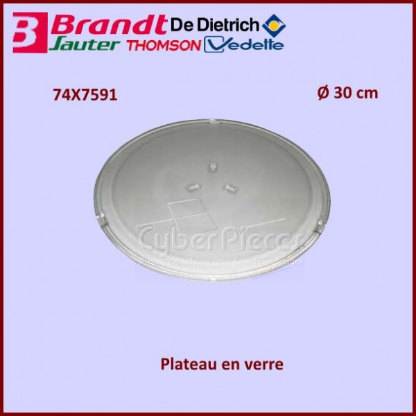 Plateau en verre 300mm Brandt 74X7591