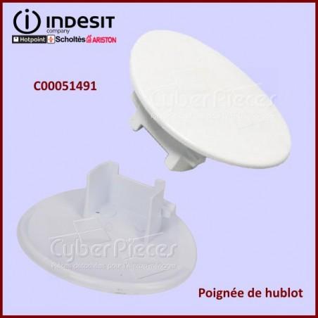 Poignée de hublot Indesit C00051491