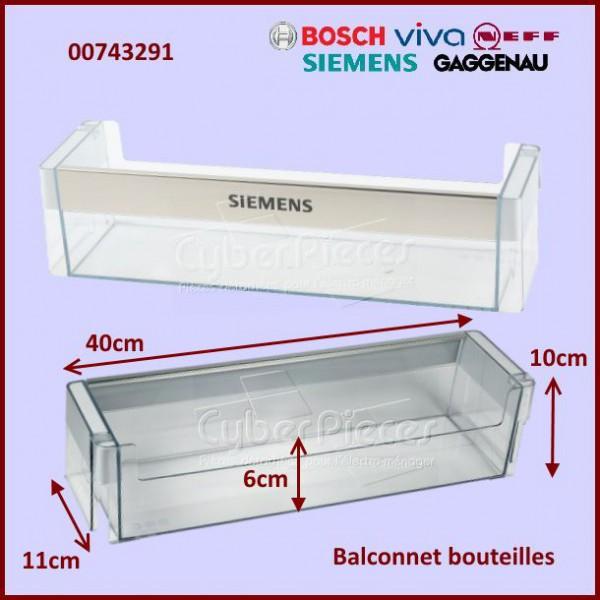 balconnet bouteilles bosch 00743291 pour balconnets de porte refrigerateurs et congelateurs. Black Bedroom Furniture Sets. Home Design Ideas