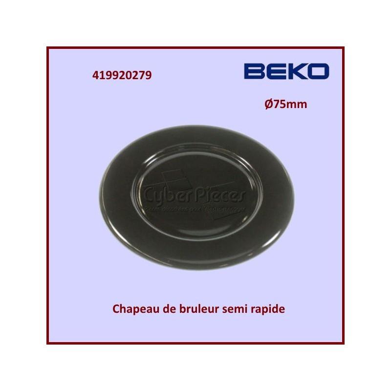 Chapeau bruleur Semi Rapide SABAF Beko 419920279