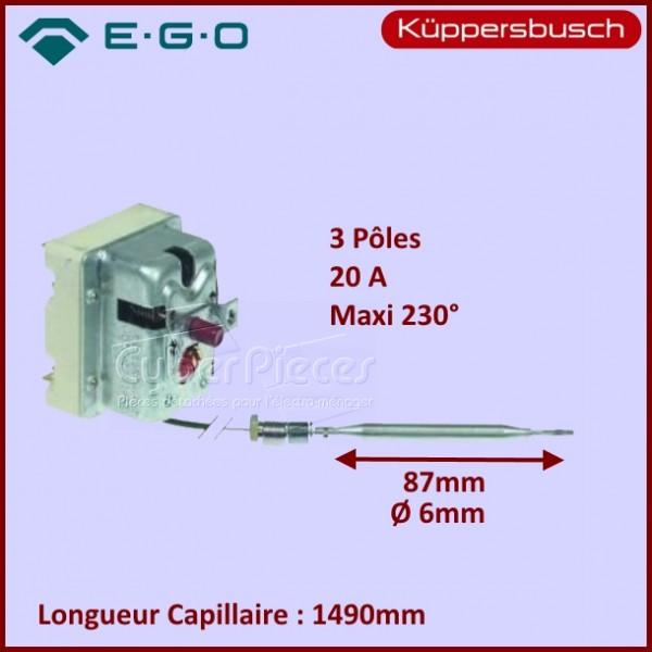 Thermostat de Sécurité EGO Friteuse ou Bain-marie - 55.32542.070, 55.32542.120, 55.32542.850