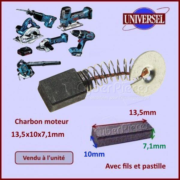 Charbon moteur 13,5x10x7,1mm