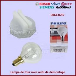 Lampe de four avec outil de démontage Bosch 00613655 CYB-056427