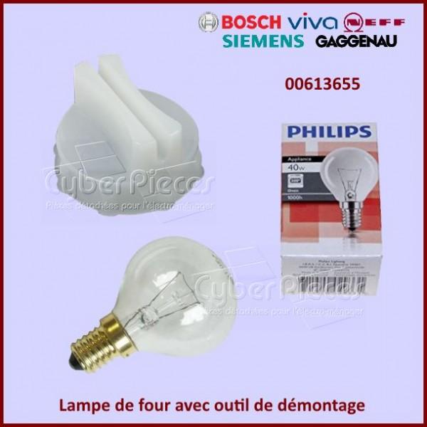 Lampe de four avec outil de démontage Bosch 00613655
