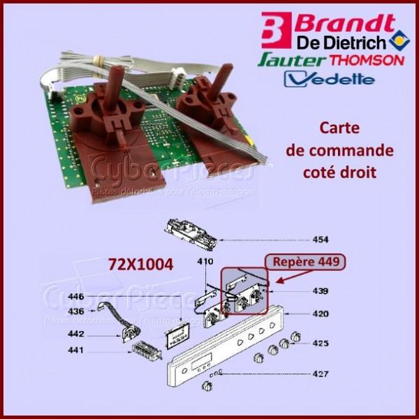 Carte de commande Droite Brandt 72X1004