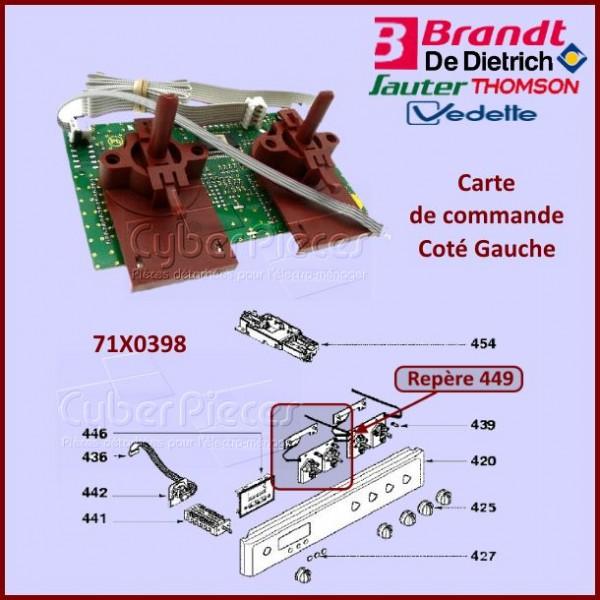 Carte de commande Gauche Brandt 71X0398
