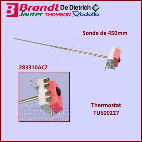Thermostat chauffe eau sonde 450mm pour chauffe eau chauffage pieces detachees electromenager - Sonde chauffe eau ...