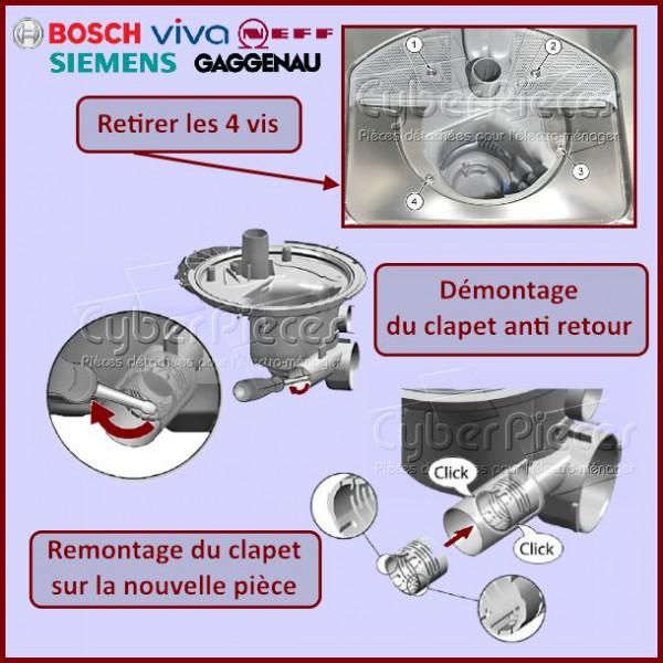 clapet anti retour bosch 00611320 pour lave vaisselle lavage pieces detachees electromenager. Black Bedroom Furniture Sets. Home Design Ideas