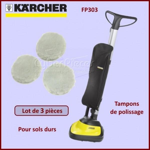 Tampons de lustrage x3 Karcher 28631930