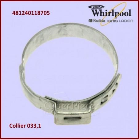 Collier de serrage 033,1 Whirlpool 481240118705