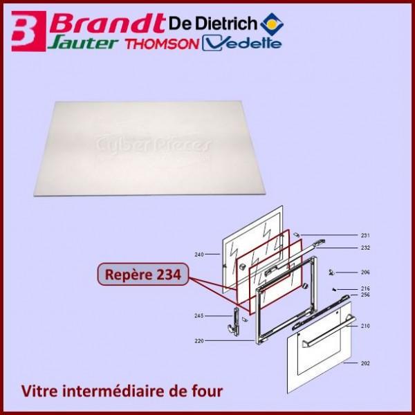 Vitre intermédiaire de four Brandt 72X0281