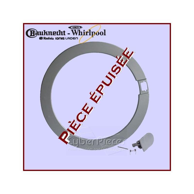 Cadre de hublot Whirlpool 481953278074 *** Pièce épuisée ***