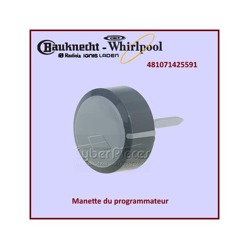 Bouton programmateur Whirlpool 481071425591