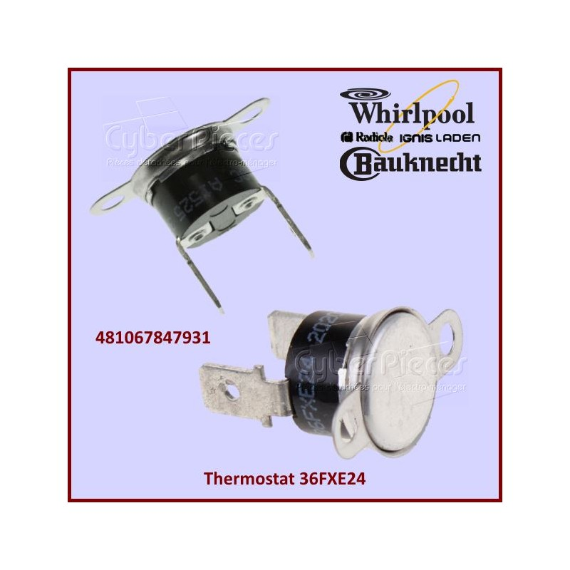 Thermostat 36FXE24 Whirlpool 481067847931 - 130°