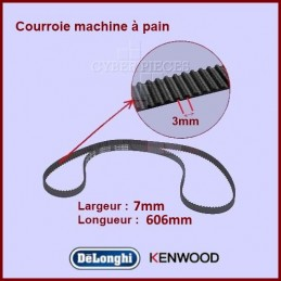 Courroie 606mm machine à pain BM450 Kenwood KW712257 CYB-336390