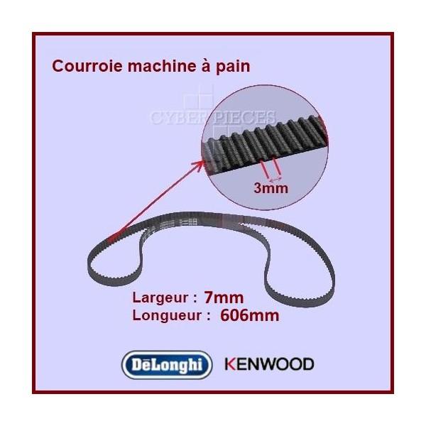 Courroie 606mm machine à pain BM450 Kenwood KW712257