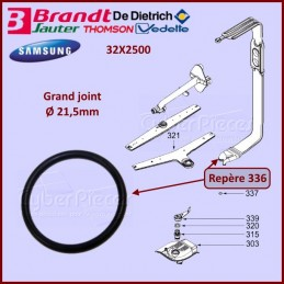 Joint du tube d'alimentation Ø21,5mm Brandt 32X2500 CYB-148337