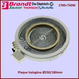 Foyer Radiant 200mm double zone 1700+750W Brandt 72X0823 CYB-096485