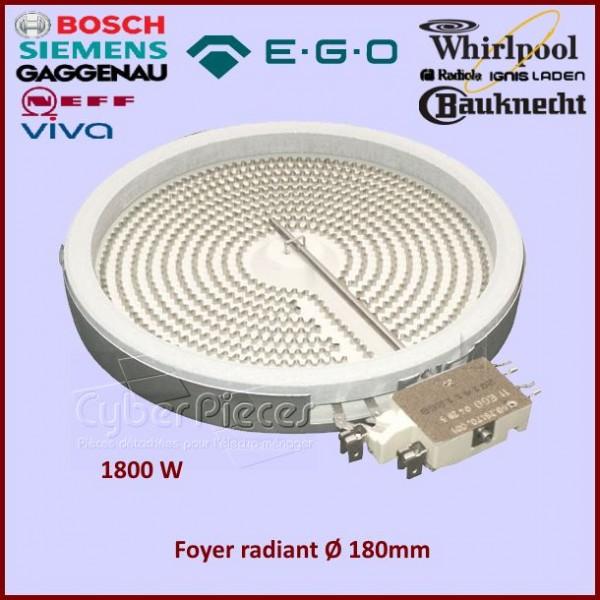 Foyer Radiant 180mm 200mm - 1800W EGO 1058113032