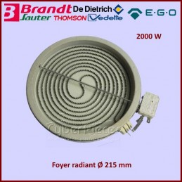 Foyer radiant 215mm 2000W EGO 2152032911 CYB-249836
