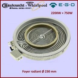 Foyer Radiant 230mm double zone 2200+750W Ego 2302333832 CYB-186100