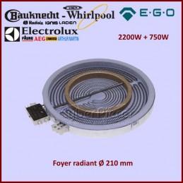Foyer Radiant 210mm double zone 2200+750W Ego 10.51211.044 CYB-042796