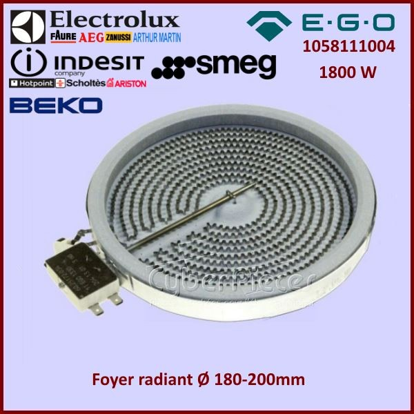 Foyer radiant 200mm - 1800w  EGO 1058111004