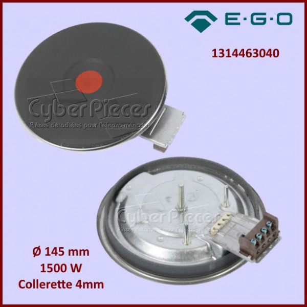 Foyer Fonte 145mm 1500w 4mm Ego 1314463040 Pour Tables