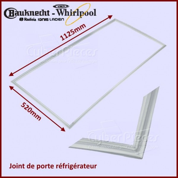 Joint magnétique Whirlpool 480131100101