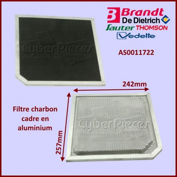 Filtre à charbon CR410 Brandt AS0011722