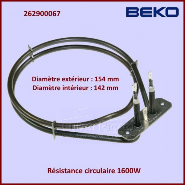 Resistance circulaire 1600W Beko 262900067