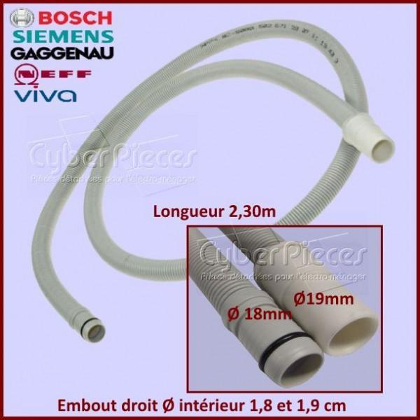 Tuyau de vidange 2.30m à embout droit Bosch 00668114