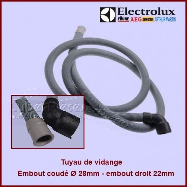 tuyau de vidange coud electrolux 1173680305 pour tuyaux alimentation et vidange lave. Black Bedroom Furniture Sets. Home Design Ideas