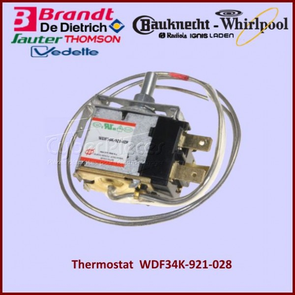 Thermostat WDF34K-921-028 Whirlpool 481221538029