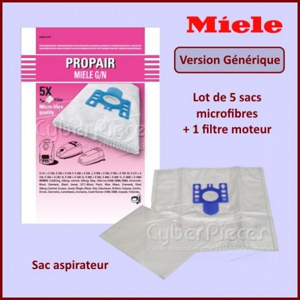 Sac aspirateur microfibre adaptable Miele 9917730