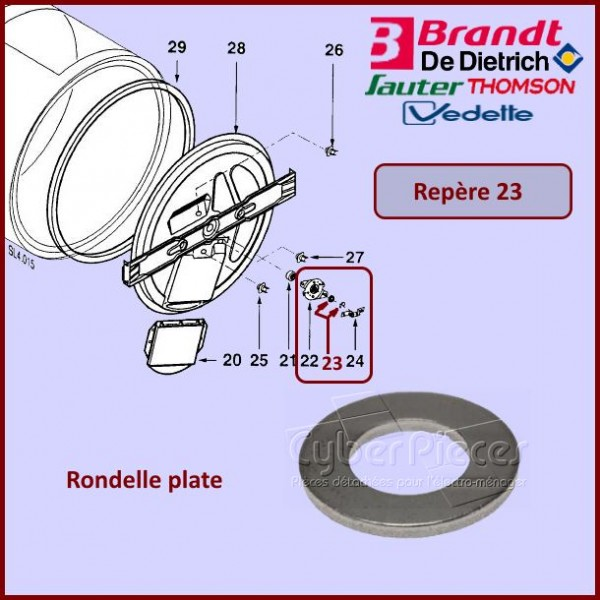 Rondelle plate Brandt 57X0613